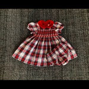 Children's Place Christmas dress and diaper cover